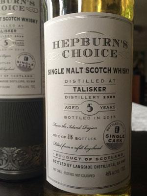 Hepburn s Choice: Talisker 5 Jahr, 46%