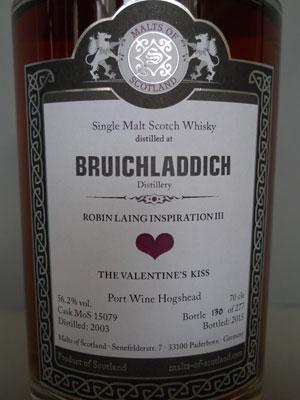 MoS – Bruichladdich, Robin Laing Inspiration III – Port Wine Hogshead